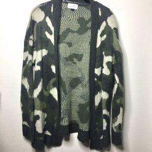 Universal Thread Brushed Camo Cardigan Sweater